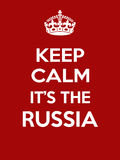 Vertical rectangular red-white motivation the russia poster based in vintage retro style Royalty Free Stock Photography