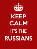 Vertical rectangular red-white motivation the russians poster based in vintage retro style Stock Photos