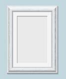 Vertical rectangular white frame a4 Stock Photo