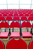 Vertical red chairs Stock Photos