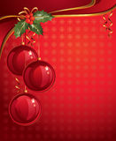 Vertical red christmas backdrop Stock Image