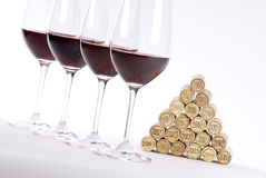 Vertical Red Wine Tasting Royalty Free Stock Images
