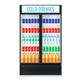 Vertical Refrigerator Template Royalty Free Stock Photos