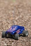 Vertical of remote controlled electric truck with plastic body Royalty Free Stock Photos