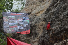 Vertical Rescue Stock Photo