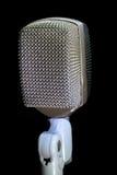 Vertical retro do microfone Fotos de Stock Royalty Free