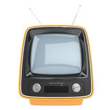 Vertical retro television Stock Photography