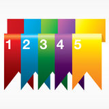 Vertical Ribbon Banners. Royalty Free Stock Photography