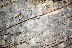 Vertical rock climbing Stock Photography