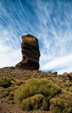 Vertical rock in El Teide National park Royalty Free Stock Images