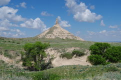 Vertical rock formation.Chimney Rock. Stock Photo