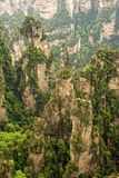 Vertical rock formations of Zhangjiajie National Forest Park, Hu Stock Images