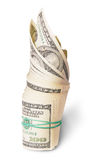 Vertical Roll Of Money Royalty Free Stock Photos