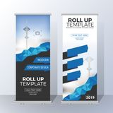 Vertical Roll Up Banner Template Design for Announce and Adverti Stock Photo
