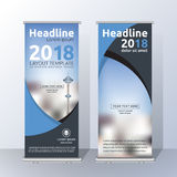 Vertical Roll Up Banner Template Design Stock Images