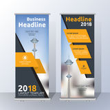 Vertical Roll Up Banner Template Design Royalty Free Stock Photos