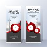 Vertical Roll Up Banner Template Design for Announce  Royalty Free Stock Photos