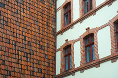 Vertical roof with tiles in Quedlinburg, Germany Stock Photography
