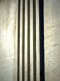Vertical rough concrete bands Royalty Free Stock Photography