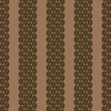 Vertical row of coffee beans seamless pattern 2. Decorative seamless pattern with vertical row of coffee grains Royalty Free Stock Images