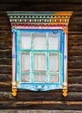 Vertical Russian window design decoration Stock Photos