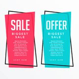 Vertical sale banner card design for your promotion Stock Photos