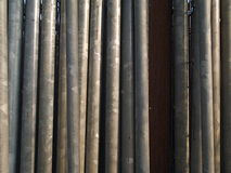 Vertical scaffolding piping. Scaffolding pipes in a vertical array Royalty Free Stock Photos