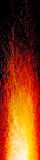 Vertical scratched fire banner Royalty Free Stock Photography