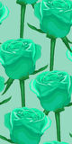 Vertical seamless background with blue roses. In the old style Stock Photography