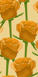 Vertical seamless background with yellow roses. Royalty Free Stock Photography