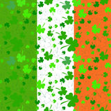 Vertical Seamless clover pattern on Patrick's Day Stock Photos