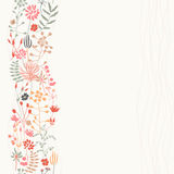 Vertical seamless floral background Stock Images