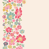 Vertical seamless floral background. Royalty Free Stock Image