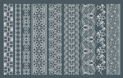 Vertical seamless lace borders Royalty Free Stock Photography