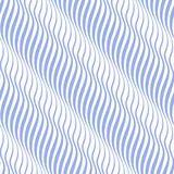 Vertical seamless striped wave pattern in blue and white tones. Stock Images