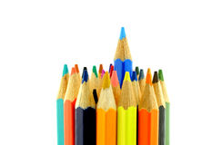 Vertical set of color pencils Royalty Free Stock Photography