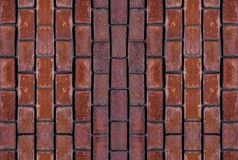 Vertical set elements wall weathered stone brick terracotta red block cityscape elements of old buildings close-up symmetrical royalty free stock images