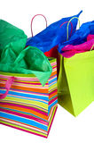 Vertical Shopping Bags Stock Image