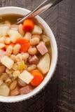 Vertical shot of bean soup Stock Photo