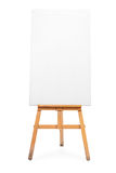 Vertical shot of a blank canvas on an easel Stock Photography