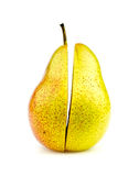 Vertical shot of colorful corella pear halves perfectly cut Stock Photography