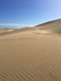 Vertical shot of Maspalomas dunes - Gran Canaria royalty free stock images