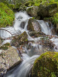 Vertical shot of a messy waterfall Royalty Free Stock Image