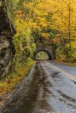 Smoky Mountain Tunnel in Autumn Vertical stock images