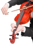 Vertical shot of violinist playing a violin Stock Photography