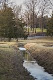 Vertical Shot of A Water Stream royalty free stock photography