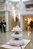 Vertical shot of a wedding cake Royalty Free Stock Photo