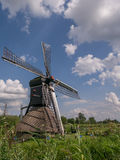 Vertical shot of windmill in Drenthe Royalty Free Stock Photos