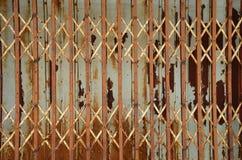 Vertical shutter steel door Royalty Free Stock Photography