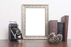Vertical Silver Frame Royalty Free Stock Photography
